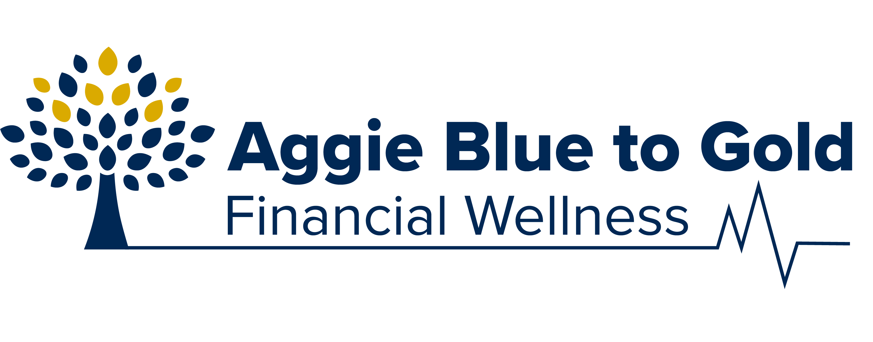 Aggie Blue to Gold Financial Wellness logo