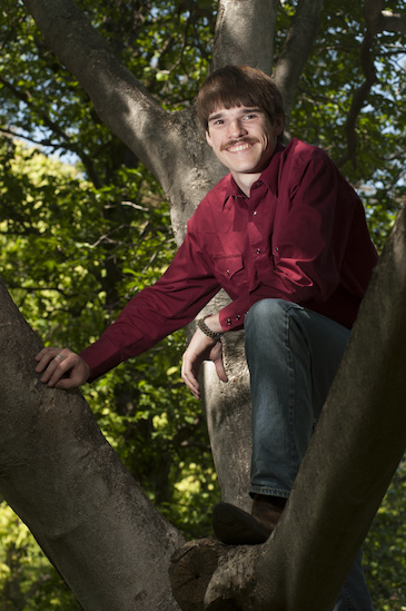 Andrew Magee, 2014 Goldwater Winner, in tree