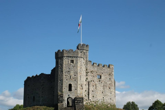 Cardiff Castle on a clear day