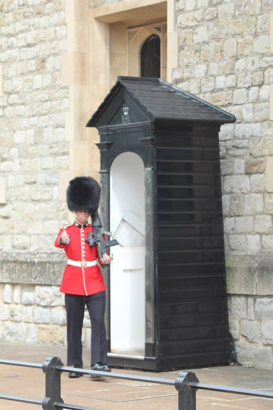 Foot guard in the Tower of London