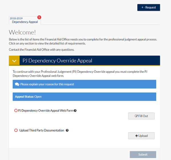 welcome page dependency override